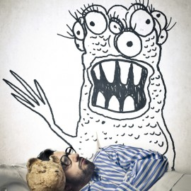 monster in bed Featured